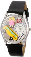 uWhimsical Watches Whimsical es S0640012 School Bus Driver Black Leather