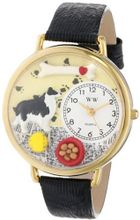 uWhimsical Watches Whimsical es Unisex G0130028 Border Collie Black Skin Leather