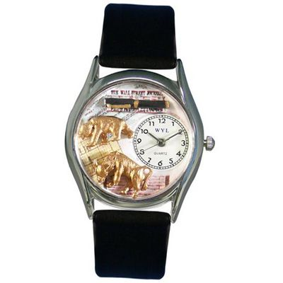 Whimsical es S0620015 Stock Broker Black Leather