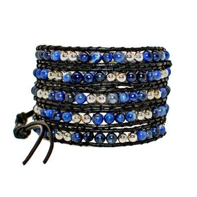 On the Rocks Classic Wrap Style: 5-Layer Wrap Bracelet, Color: Blue Cosmo