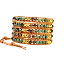 On the Rocks Classic Wrap Style: 5-Layer Wrap Bracelet, Color: Caribbean Seabreeze