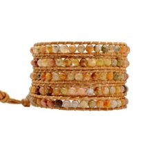 On the Rocks Classic Wrap Style: 5-Layer Wrap Bracelet, Color: Tequila Sunrise