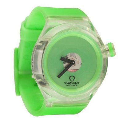 Wize & Ope Unisex Good Ghost Analogue SH-GHO-4 with Green Dial