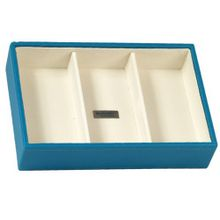 Wolf Designs 317793 Stackables Series Small Deep Tray, Turquoise