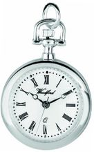 Woodford Ladies' Quartz Pendant , 1204, Chrome-Finished with 28 Inch Chain (Suitable for Engraving)