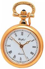 Woodford Ladies' Quartz Pendant , 1217, Gold-Plated with 28 Inch Chain (Suitable for Engraving)