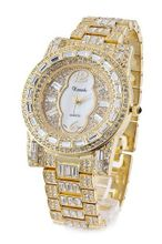 *Wow* Ladies /  18k Gold Plated Bling Made with Swarovski Elements