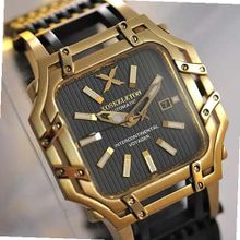 XOSKELETON Limited Edition Automatic Intercontinental Voyager Gold-Tone and Black Ion Plated Steel