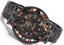 XOSKELETON Limited Edition Automatic Superlative Star Orange Sapphire Black IP Steel Limited Edition to 400 pieces only!
