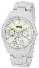 XOXO XO114 White Enamel and Rhinestone Accent Bracelet