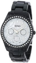 XOXO XO115 Black Enamel and Rhinestone Accent Bracelet