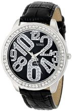 XOXO XO3183 Black Dial Black Crocodile Genuine Leather