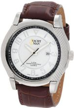 Yachtman YM0267BR Brad Textured Round Case with Silver Dial
