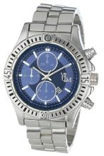 Yachtman YM409-BLUE Round Blue Dial Date Display Silver Metal Bracelet