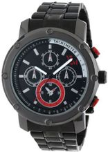 Yachtman YM607-RD Round Matt Black Dial in Hollow Stainless Steel Band