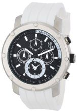 Yachtman YM607-WH Round Silver Bezel with Coordinating White Dial Detail and Silicone Band