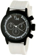 Yachtman YM750-WH Round Black White Patterned Dial Coordinating Silicone Band