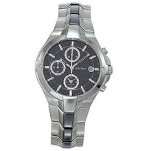 YEMA by Seiko of France Stainless Steel Alarm/Chronograph with Black Dial. Model: YM927