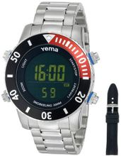 Yema COYMHF0312 Sous Marine Snorkeling Digital Display Quartz Silver