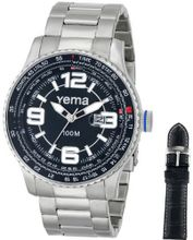 Yema COYMHF1011 Flygraf Analog Display Analog Quartz Silver