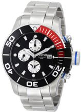 Yema YMHF0201 Sous Marine Chronograph Analog Display Analog Quartz Silver