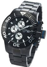 Yema YMHF0202 Sous Marine Chronograph Analog Display Analog Quartz Black