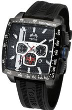 Yema YMHF0811 Rallygraf Rectangle Chronograph Analog Display Analog Quartz Black