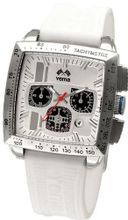 Yema YMHF0812 Rallygraf Rectangle Chronograph Lady Analog Display Analog Quartz White