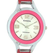 Zaza London Dome Shaped Dial Pink Strap Ladies LLB853