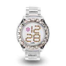 uZEROne Zerone Bedazzled Transparent Digital (Clear Swarovski Crystal)