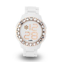 uZEROne Zerone Bedazzled White IP Rose Gold Digital (Clear Swarovski Crystal)