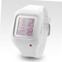 uZEROne Zerone Dazzled Animation Pink Swarovski Crystal with White Case Scrolling Message