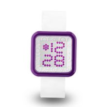 uZEROne Zerone Dazzled Transparent Purple White Swarovski Crystal Digital
