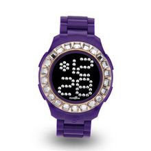 Zerone Bedazzled Purple IP Rose Gold Digital (Clear Swarovski Crystal)