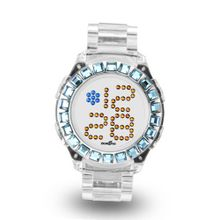 Zerone Bedazzled Transparent Digital (Blue Swarovski Crystal)