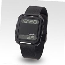 Zerone Bsquared 2 Ultra Slim Black Aluminum Bezel with IPB Stainless Steel Mesh Band Digital