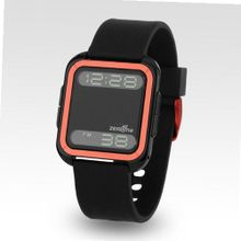 Zerone Bsquared 2 Ultra Slim Orange & Black Aluminum Bezel Digital